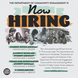 Department Hiring Flyer