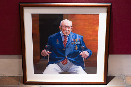 Captain Tom seated limited edition print