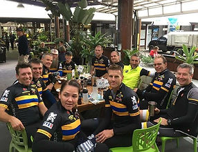 We love to race but the coffee is important too! #harlequinwheelmen #socialride #clubride #nodrop #c
