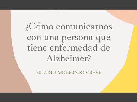 La comunicación con una persona con enfermedad de Alzheimer
