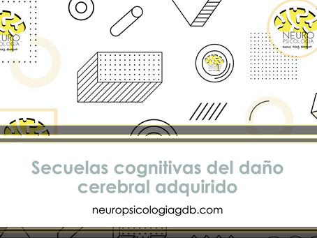 Secuelas cognitivas del daño cerebral adquirido o de las enfermedades neurodegenerativas