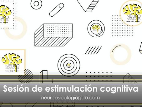 Sesión 3 de estimulación cognitiva