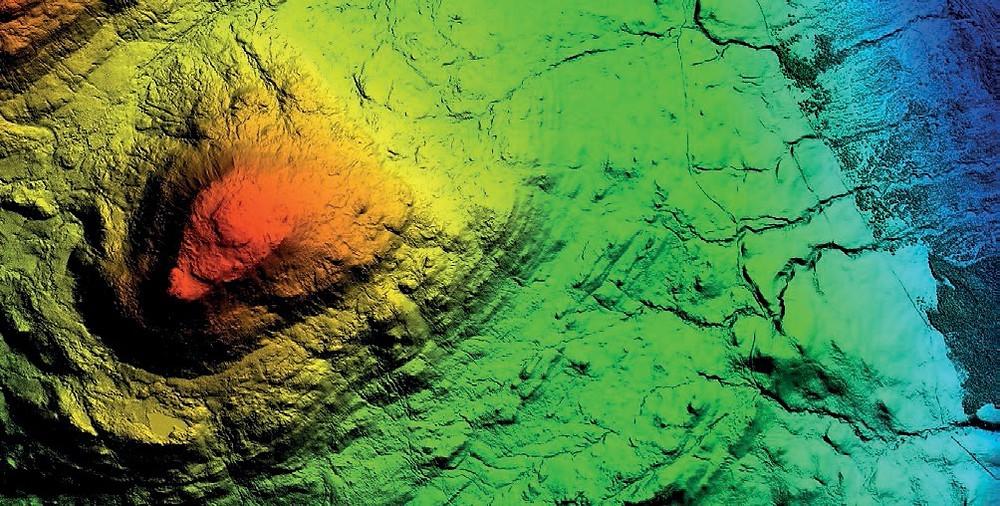 LiDAR image showing terrain