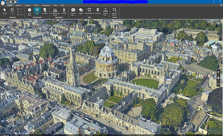 3D model of oxford in Skyline
