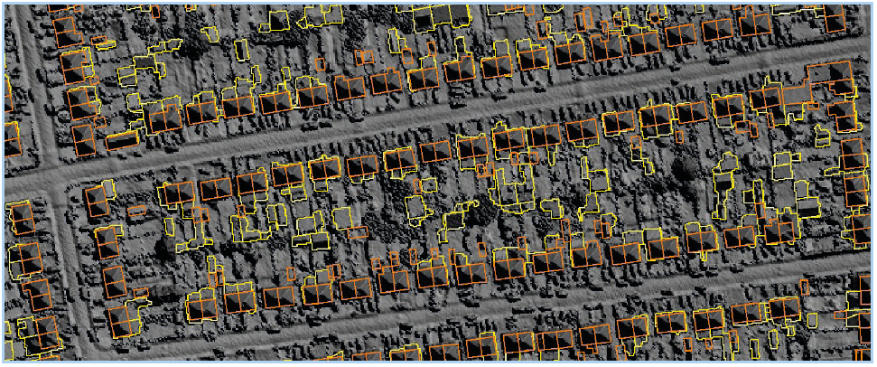 LiDAR can help identify buildings not on other mapping