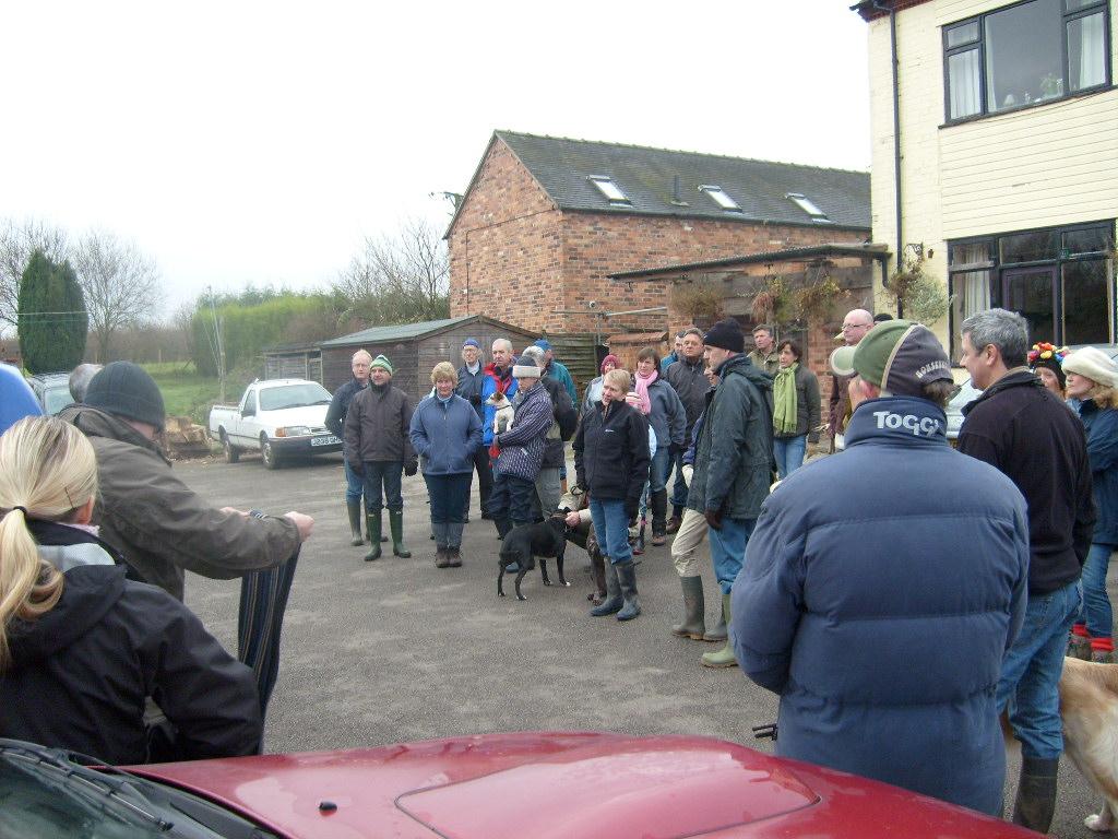 Preparing for the village dog walk