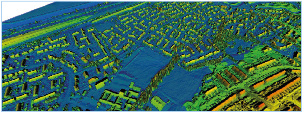 LiDAR show post-flood conditions