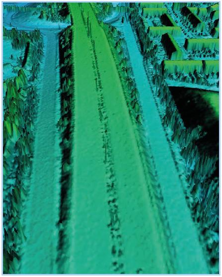 LiDAR road corridor