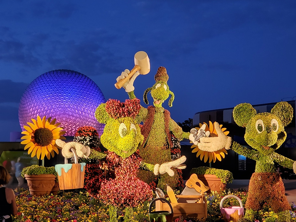 Disney World in Spring, Epcot Flower and Garden Festival, Best time to visit Disney World, family Disney World vacation