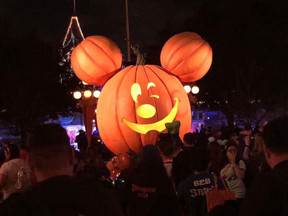 Mickey Jack O'Lantern at Disneyland during Halloween