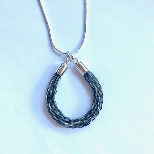 Sterling Silver Loop Necklace