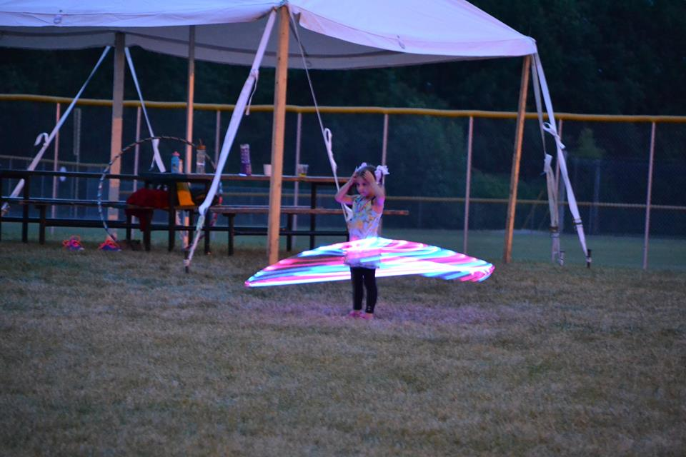 Big Green 2014 hula hoop