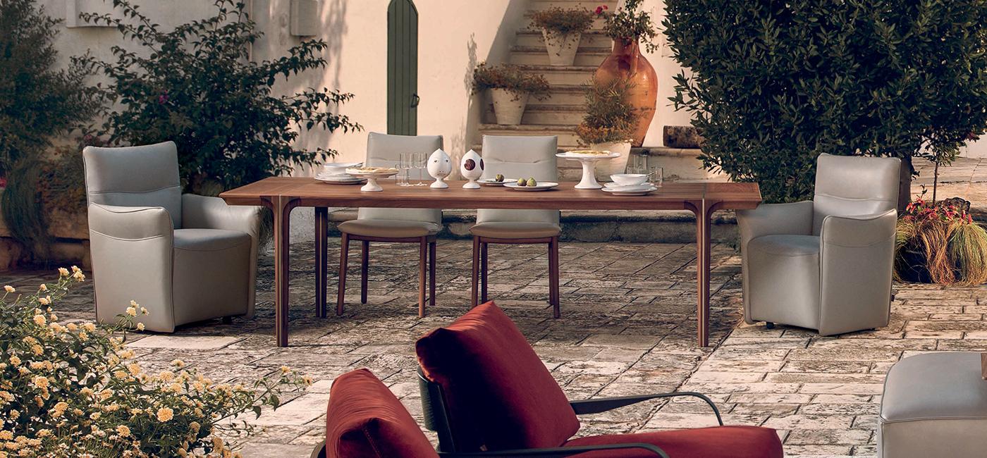 Kendo mesa - Mama sillón - Natuzzi tableware