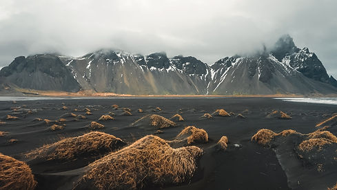 Stokksnes cape and Vestrahorn Mountain. Landscape with popular tourist attraction in Icela