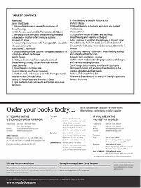 Breastfeedig New Anthropological Approaches Flyer Table of Contents