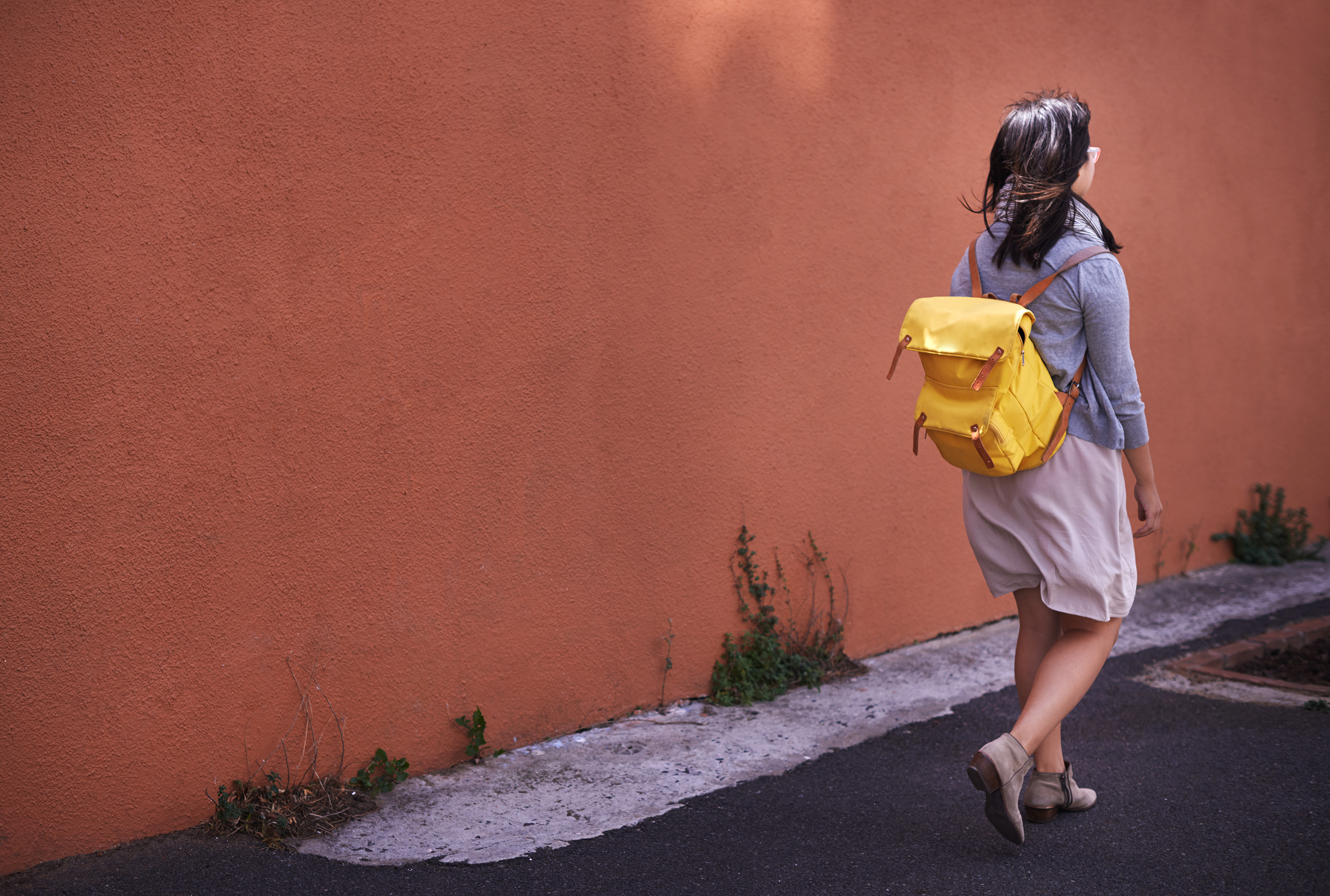 Woman with Yellow Bag