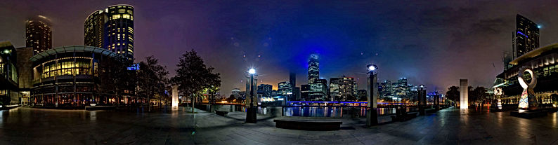 Yarra River night walk Melbourne
