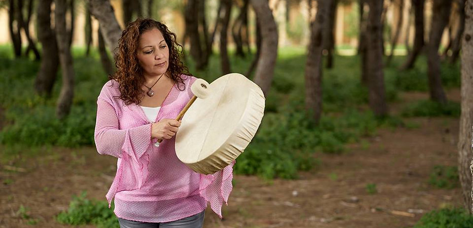 Susan with Shamaic Drum