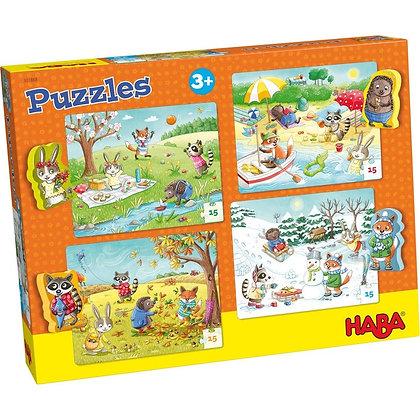 Puzzles 15 pièces : Les saisons