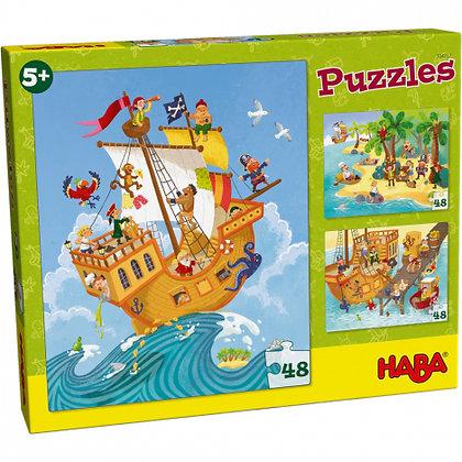 Puzzles 48 pièces : Pirates et Cie