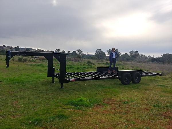 Tesia Standing on new trailer.jpg