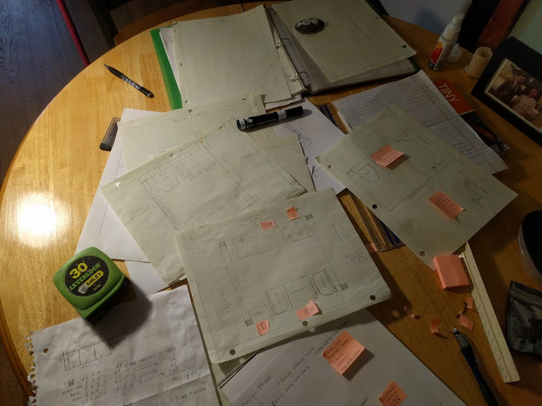 Planning. Drawing & redrawing.