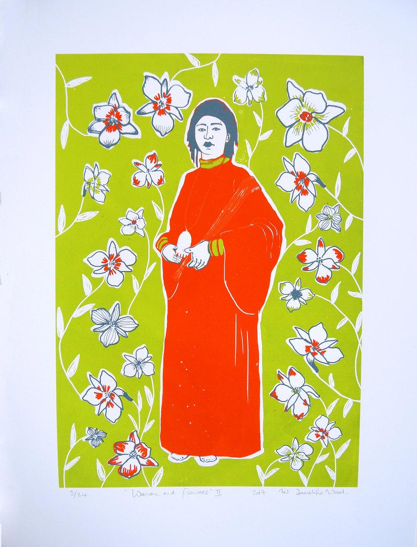 women & flowers II