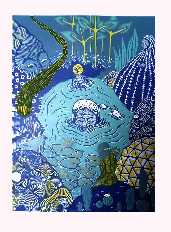 The swamp sister (light blue)