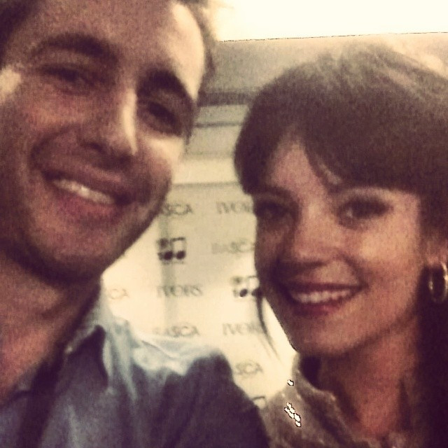 Tom Farmery with Lily Allen