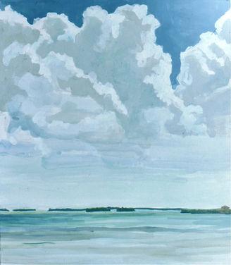 Bay and Cumulus Clouds