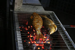 Grilled fish at Sunset Serenity on St. Martin's Island