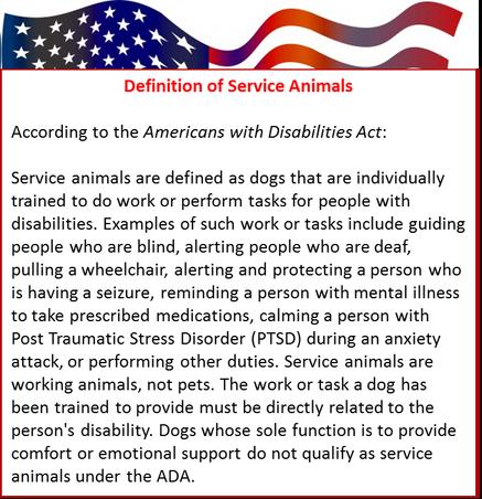 Definition of Service Animals