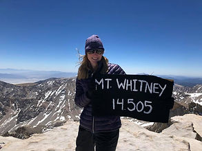 Chante McCoy atop Mt Whitney, elevation 14,505 feeet