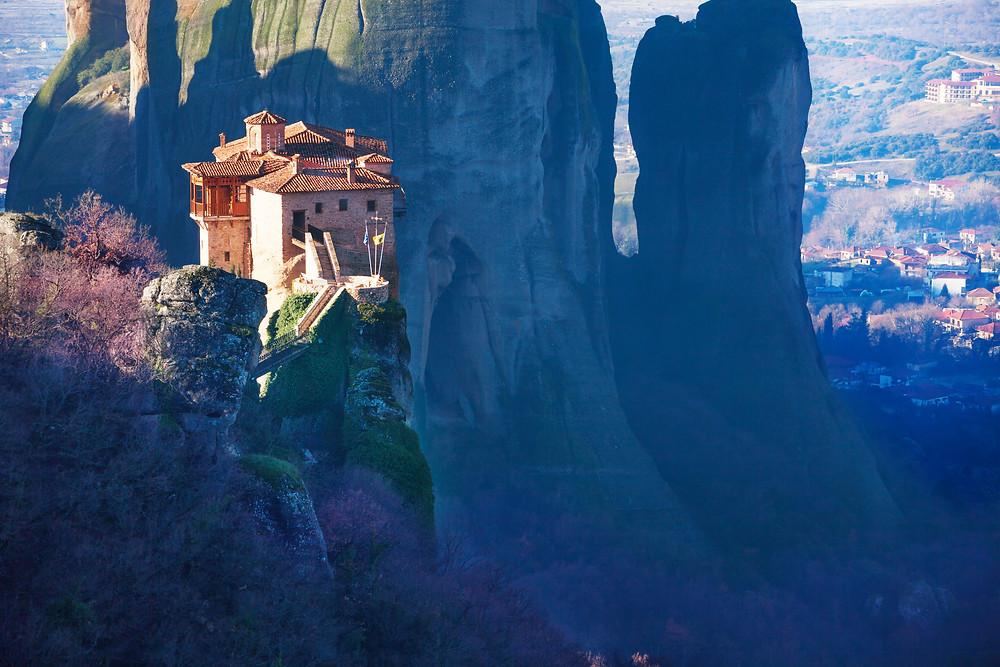 A monastery atop Meteora, Greece