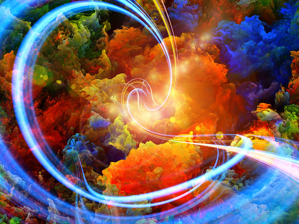 a swirl of colors