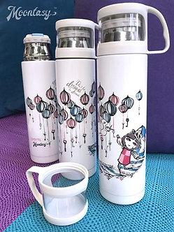 保溫瓶(連小杯) - 夢想不只想 Thermal Bottle with Cup - Don't Let Dreams Be Dreams