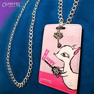 """時尚頸鏈證件套 - 夢奇 """"Happy"""" Card Holder Necklace - Moonkii """"Happy"""""""