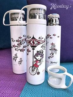 保溫瓶(連小杯) - 莎樂單車樂 Thermal Bottle with Cup - Charlotte Riding Bicycles