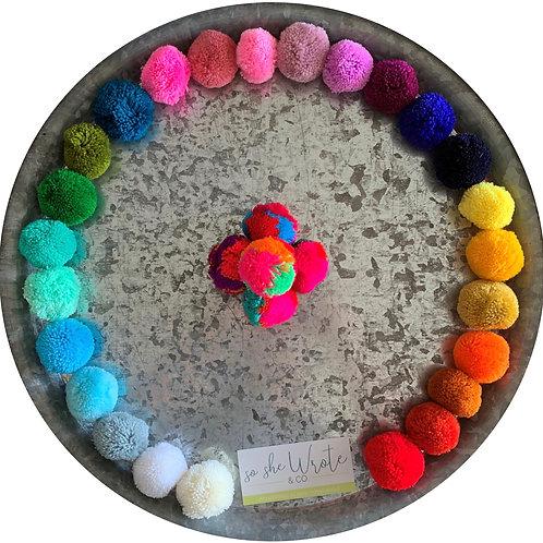 Custom Pom Pom Earrings - Single Color