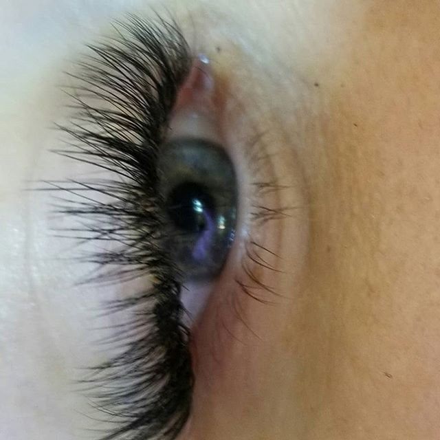 No makeup,  only lashes!_#eyelashextensi