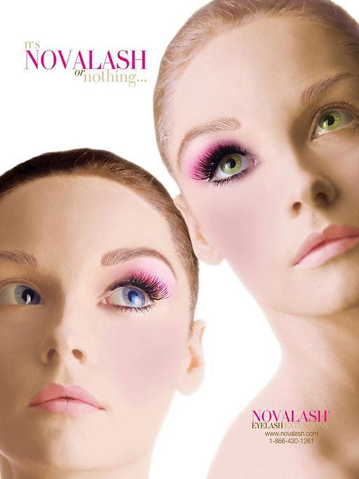 women with eyelashes