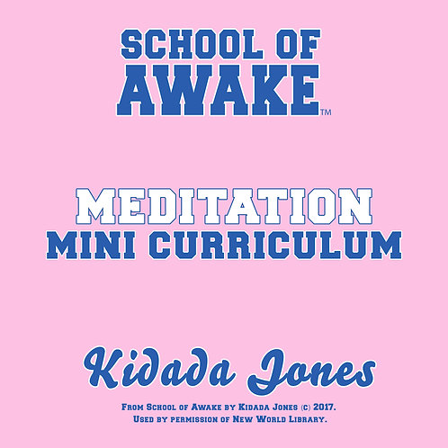 Meditation: School of Awake Mini Curriculum