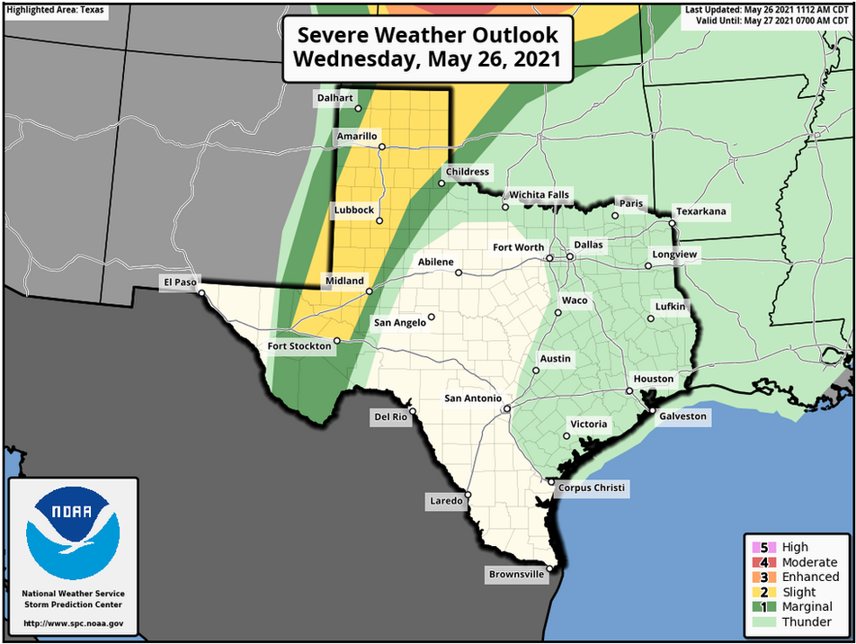 Wednesday, Thursday Severe Weather