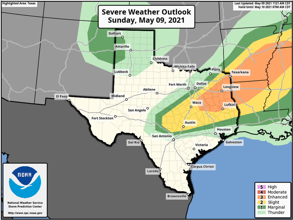 May 9 Texas Severe Weather Update