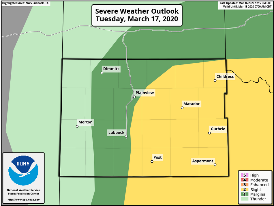 First Shot At Severe Weather
