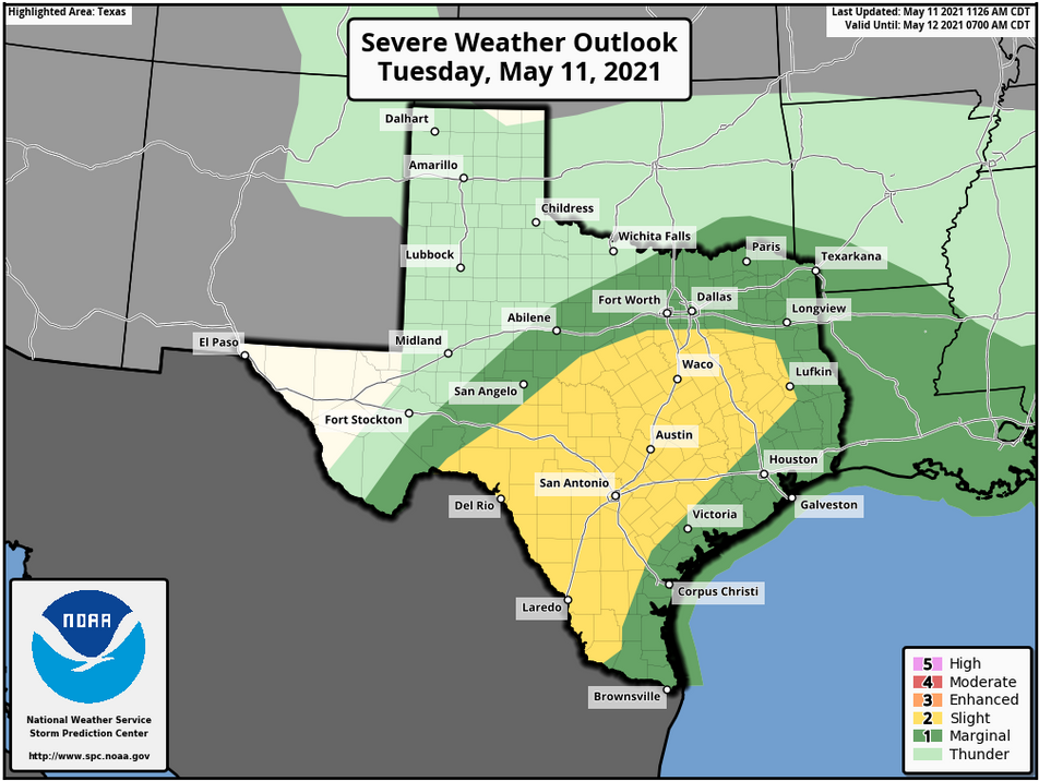 May 11 Texas Weather Update