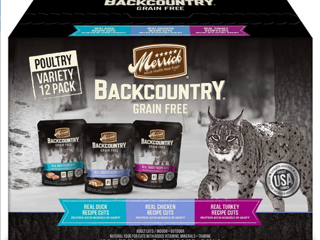 Max Cat Replacement: Merrick Backcountry Grain Free Duck, Chicken and Turkey