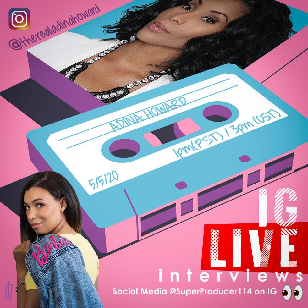 IG LIVE interviews - Adina Howard