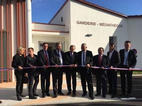 Inauguration de la garderie médiathèque de Grand Landes
