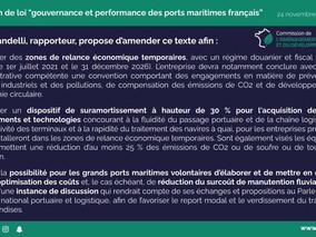Gouvernance des Ports maritimes français : le rapport